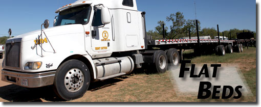 Flat Beds For Frac Sand Trucking And General Use